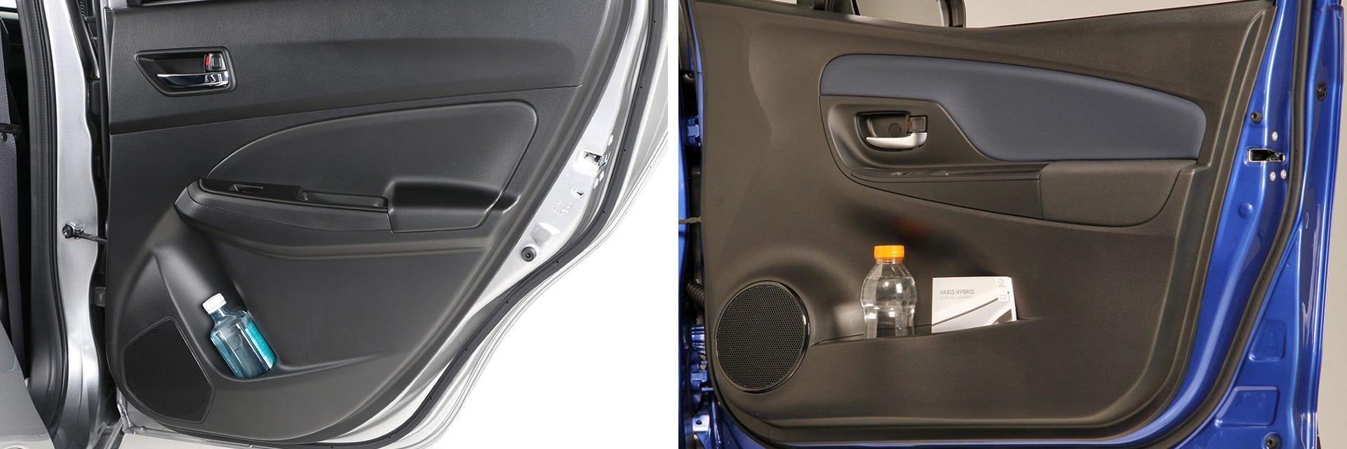 Los habitáculos de ambos coches disponen de suficientes espacios portaobjetos.