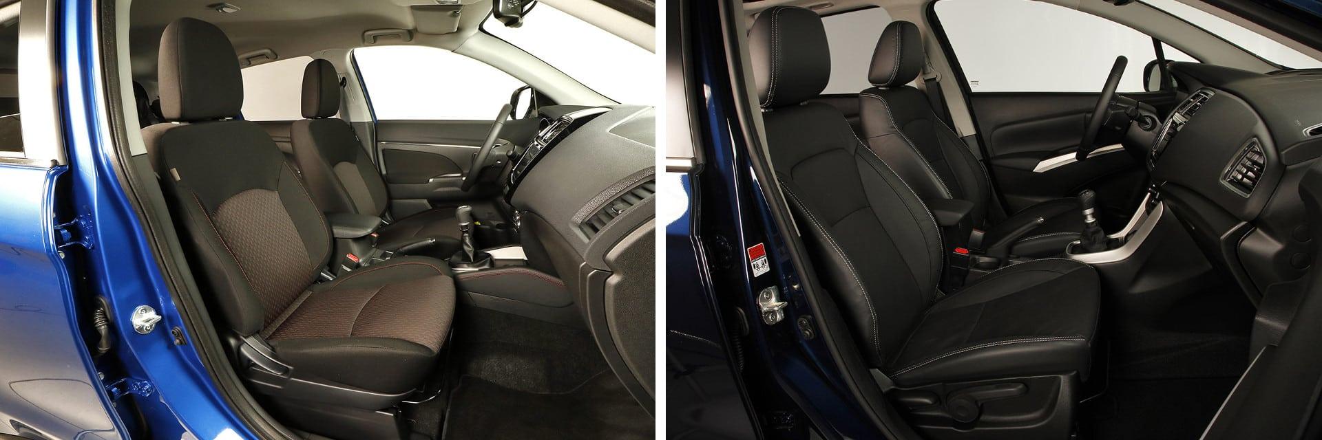 Los asientos delanteros de ambos modelos cuentan con un mullido cómodo, pero con poca sujeción para la espalda.
