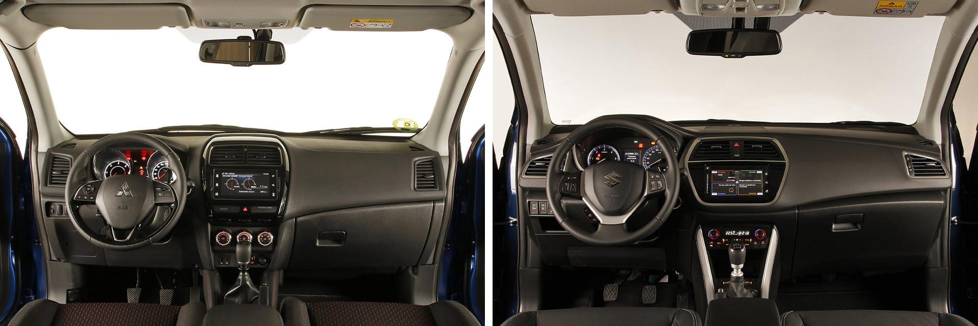 Los dos interiores están fabricados con materiales duros y que dan un aspecto sobrio.