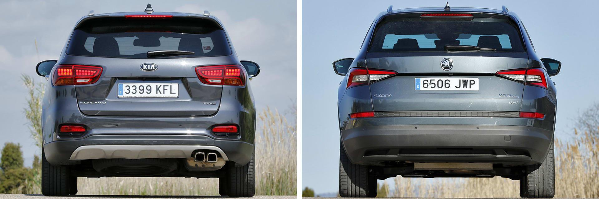 Esta versión del Sorento (izq) está a la venta con un precio de 41 050 euros, mientras que la del Škoda (dcha) cuesta 40 356 euros.