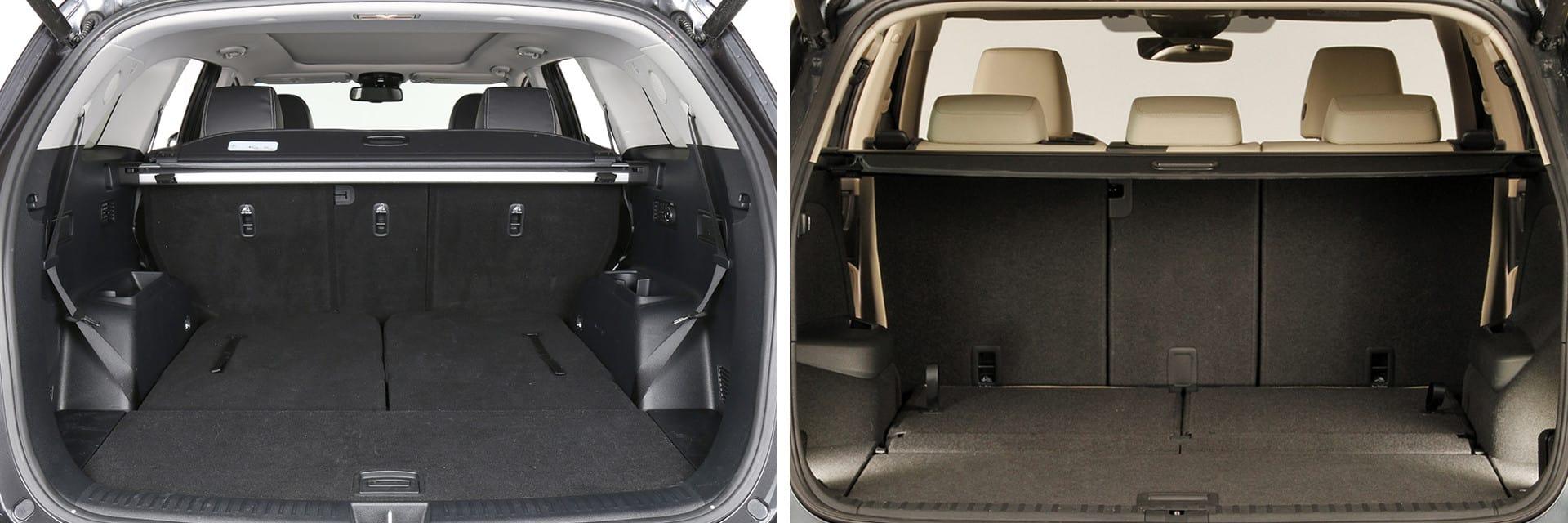 El maletero del Sorento tiene 605 litros, 142 con la tercera fila de asientos; el Kodiaq tiene 560 litros y 270, respectivamente.