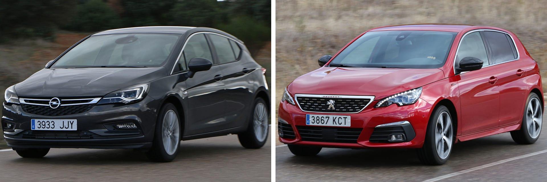 Haciendo el mismo trayecto a una velocidad media de 120 km/h, el Astra (izq.) consumió 6,9 l/100 km y el Peugeot (dcha.), 7,2 l/100 km.
