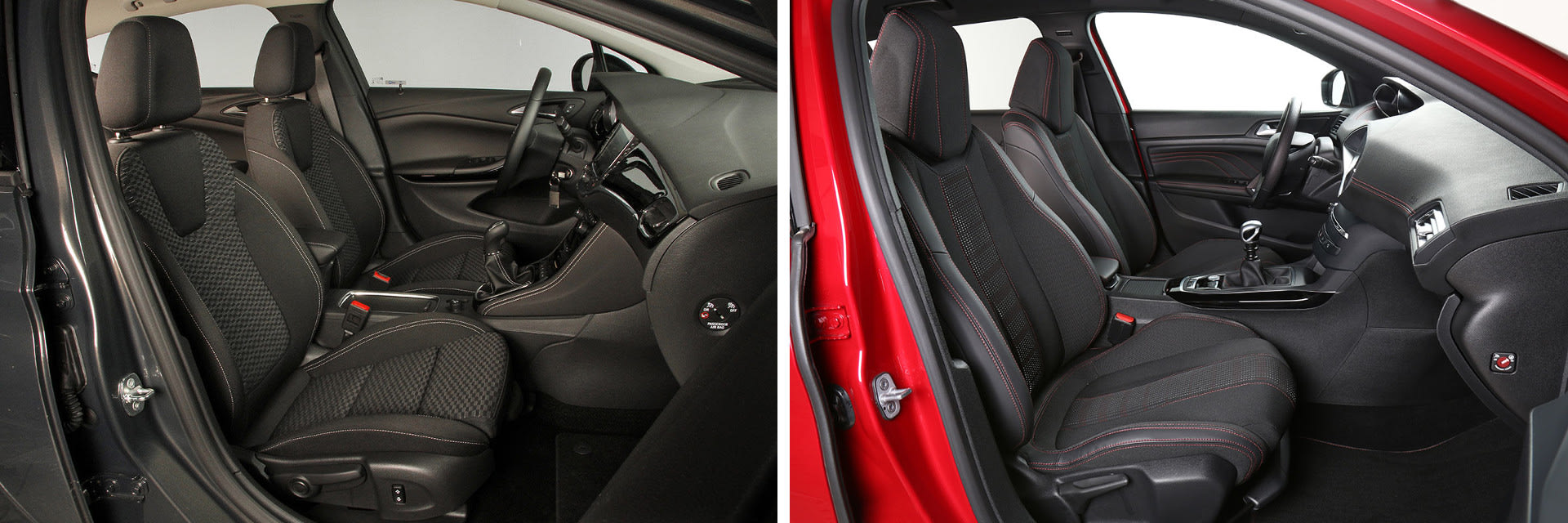 Los asientos delanteros de ambos vehículos son cómodos para realizar viajes largos.