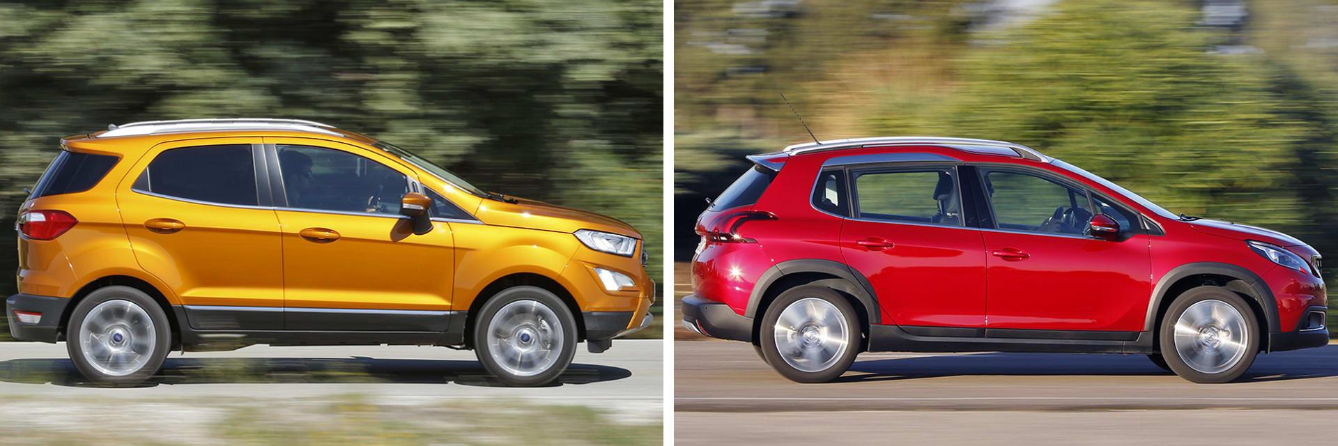 Ambos SUV pequeños tienen motor de gasolina y tracción delantera.