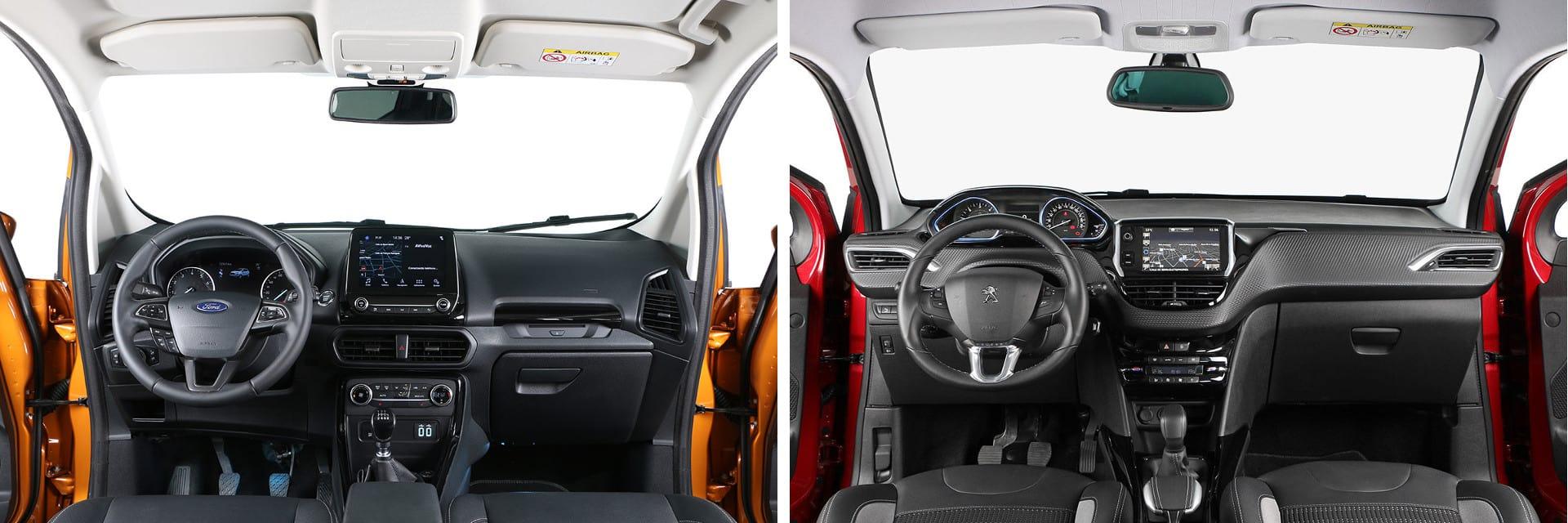 Ambos modelos tienen materiales de buena calidad en su interior y numerosos huecos portaobjetos.