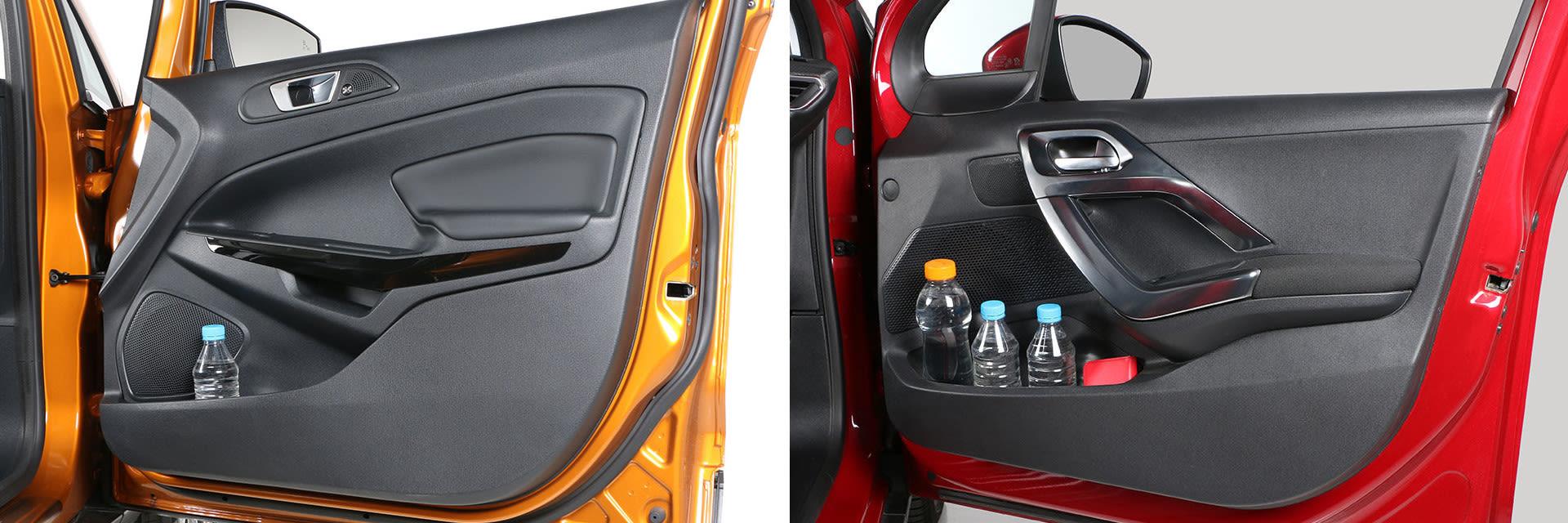 Ambos modelos tienen distintos huecos portaobjetos repartidos por todo el interior.