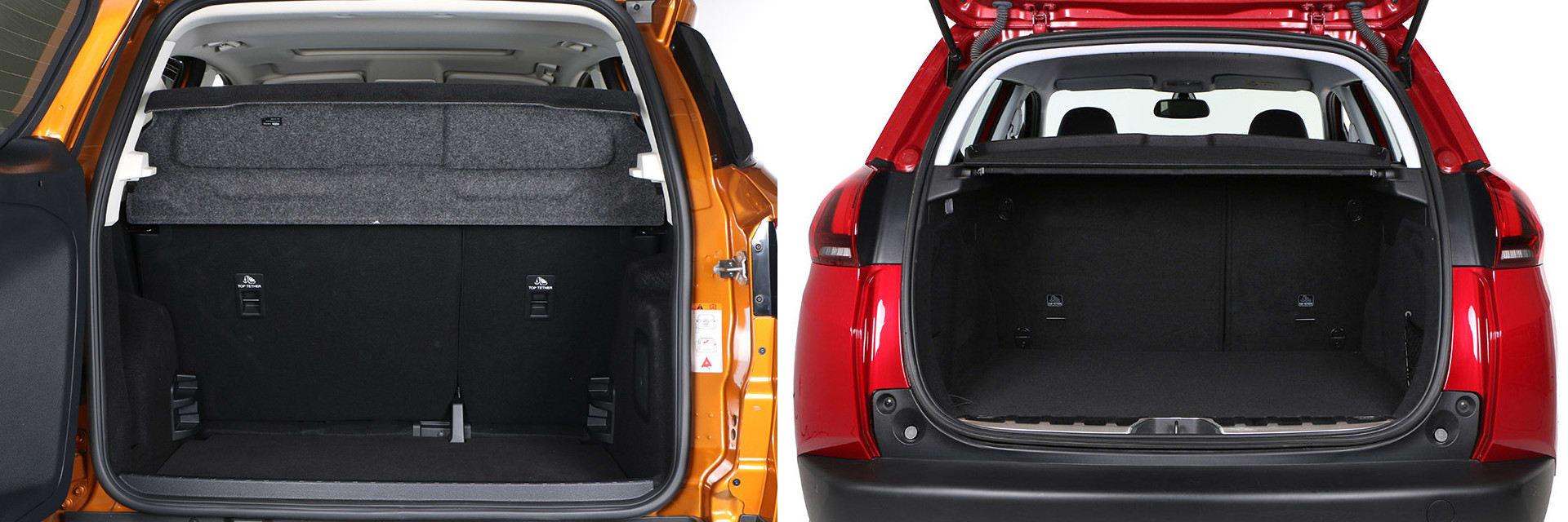 El portón del maletero del Ford EcoSport se abre lateralmente, por lo que es necesario dejar mucho espacio por detrás del coche.