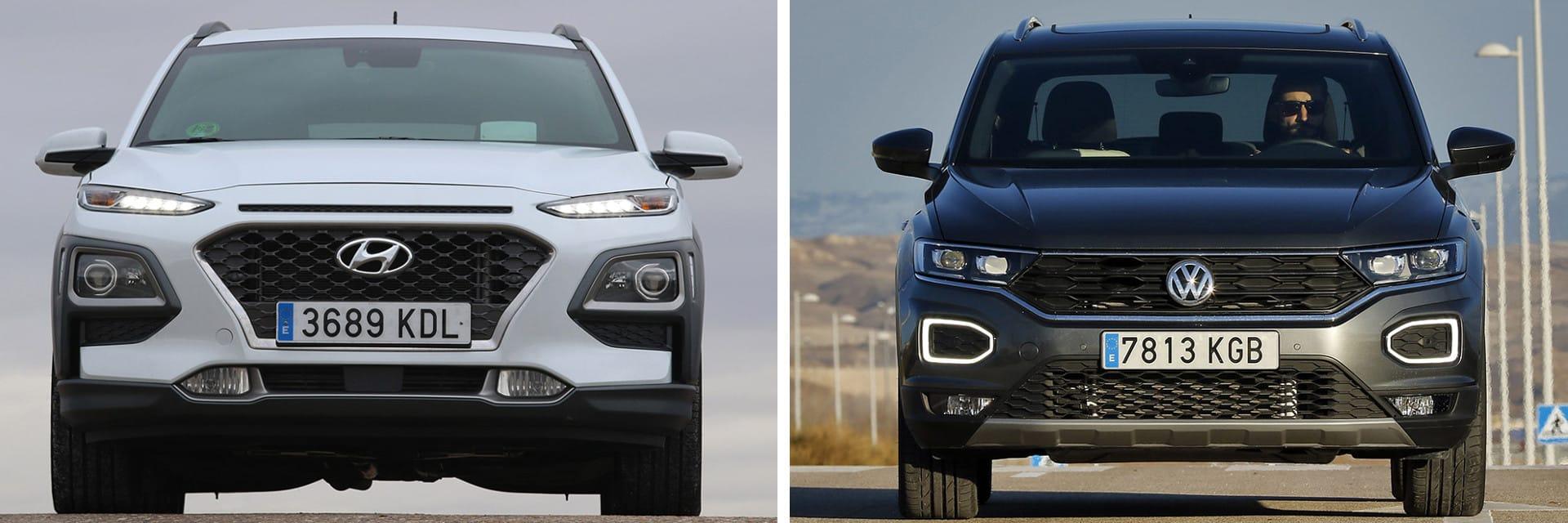 Este Hyundai Kona (izq.) es 8155 euros más económico que el T-Roc (dcha.)