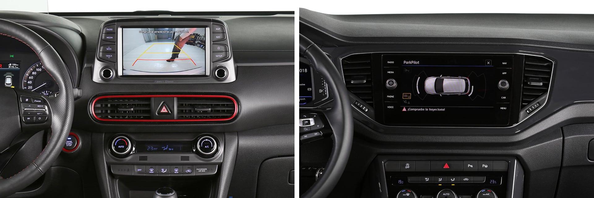Ambos modelos cuentan con pantallas multimedia de grandes dimensiones en la consola central.