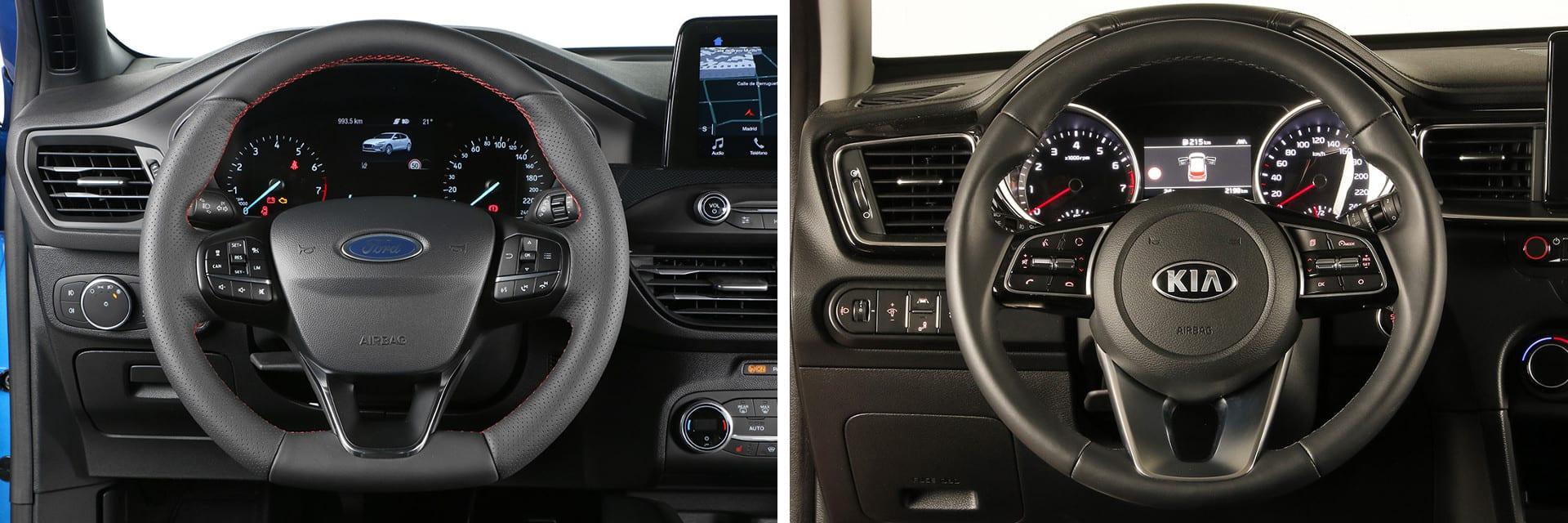 Ambos volantes tienen varias posiciones de ajuste para facilitar una postura de conducción más cómoda.