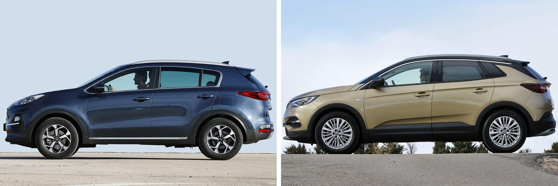 Las fotos del KIA Sportage corresponden al acabado Emotion con el Pack Premium y las del Opel Grandland X al Excellence. / km77