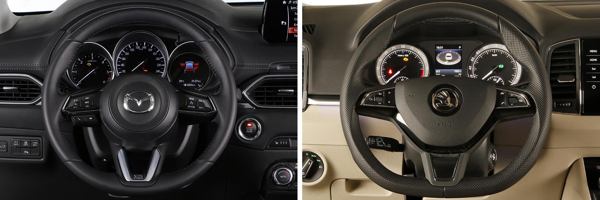 En ambos modelos es fácil encontrar una buena postura de conducción gracias a la gran cantidad de ajustes que tienen tanto el volante como el asiento.