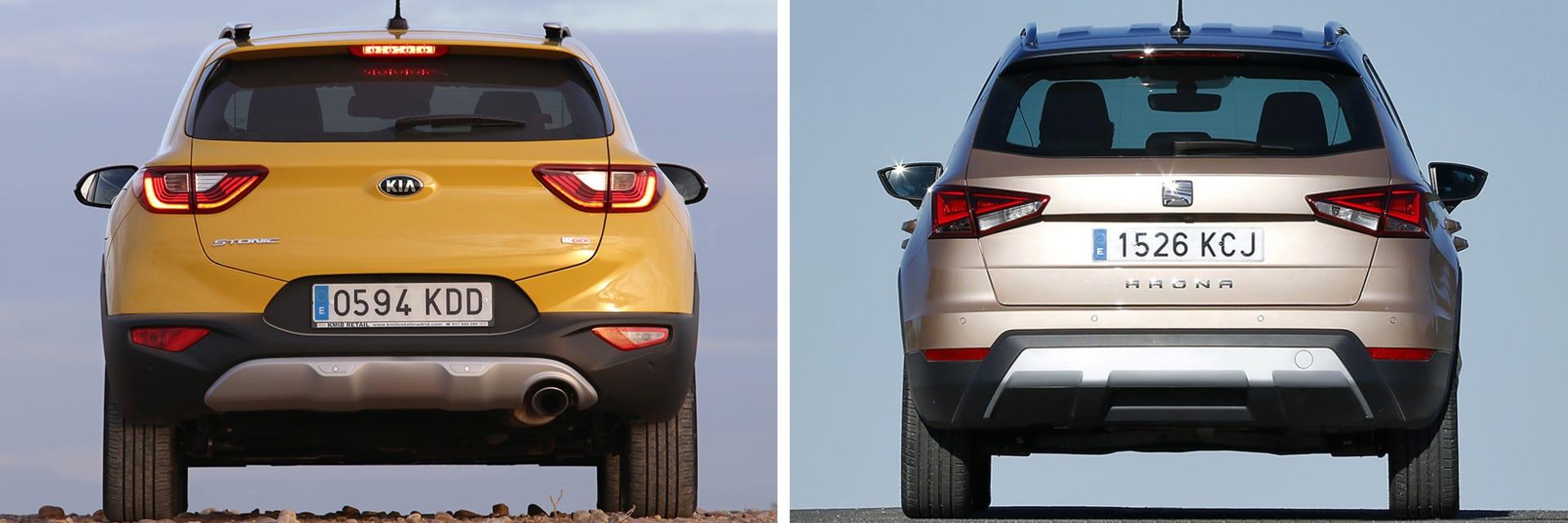 Tanto el Stonic (izq.) como el Arona (dcha.) son dos vehículos que responden bien en ciudad y en carretera.