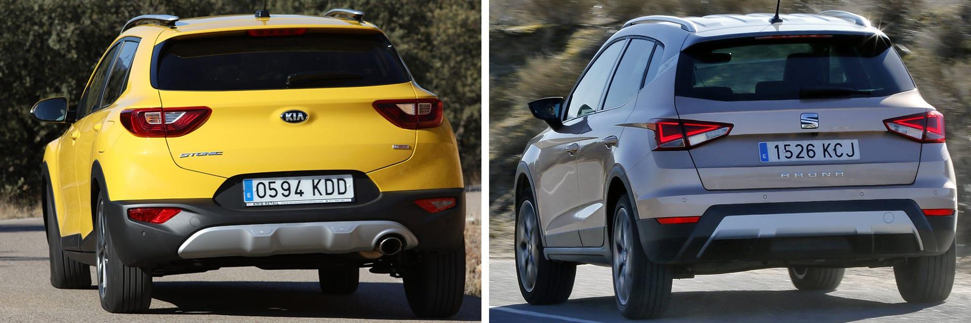 El KIA Stonic (izq.) y el SEAT Arona (dcha) prácticamente tienen el mismo consumo y la misma aceleración de 80 a 120 km/h.