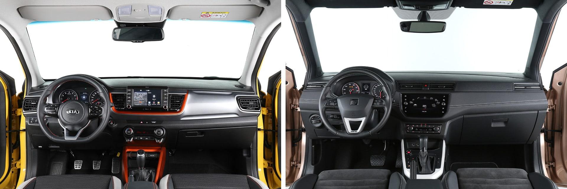 El SEAT Arona (dcha.) es más caro que su rival, lo que no implica que tenga un interior más lujoso que su oponente.