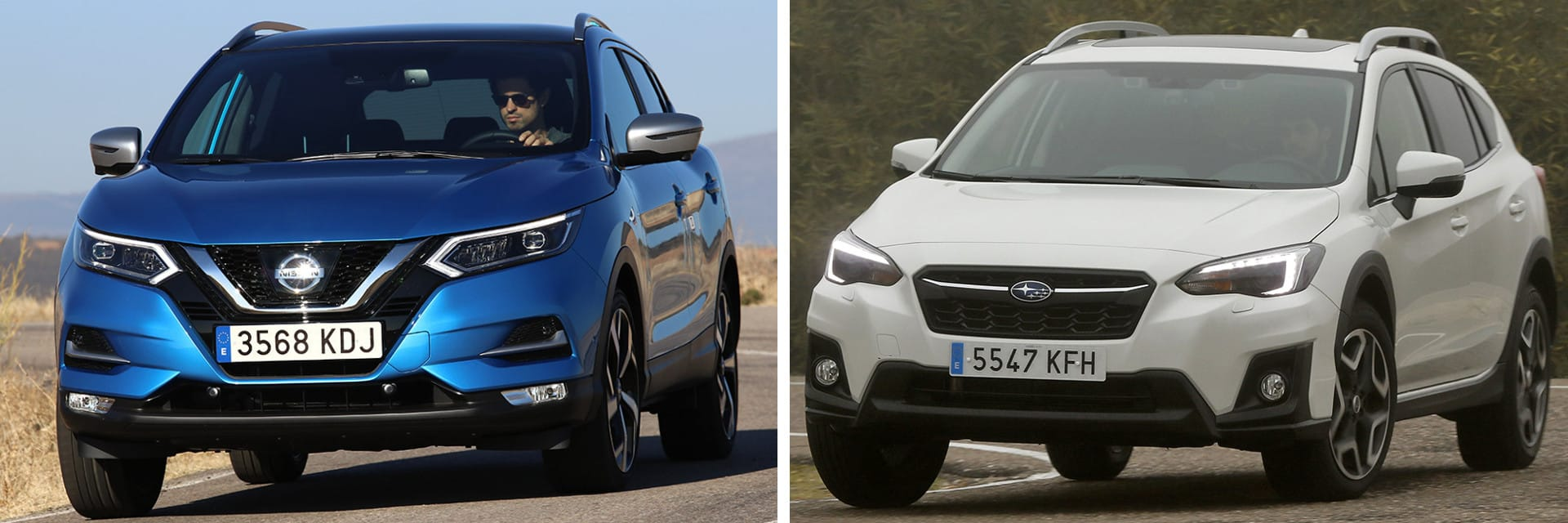 En un recorrido de 140 km por autovía, el Qashqai (izq.) tuvo un consumo de 7,0 l/100 km y el Subaru (dcha.) de 7,5 l/100 km.
