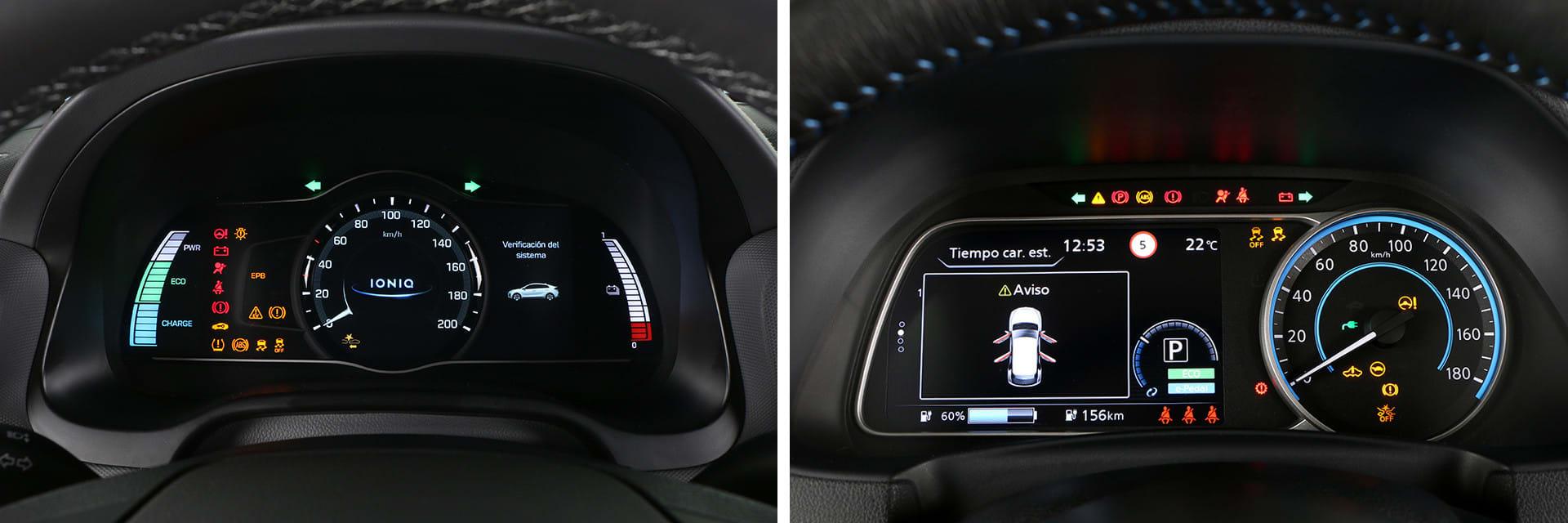 Ambos cuadros de instrumentos están formados por un indicador tradicional y una pantalla de siete pulgadas.