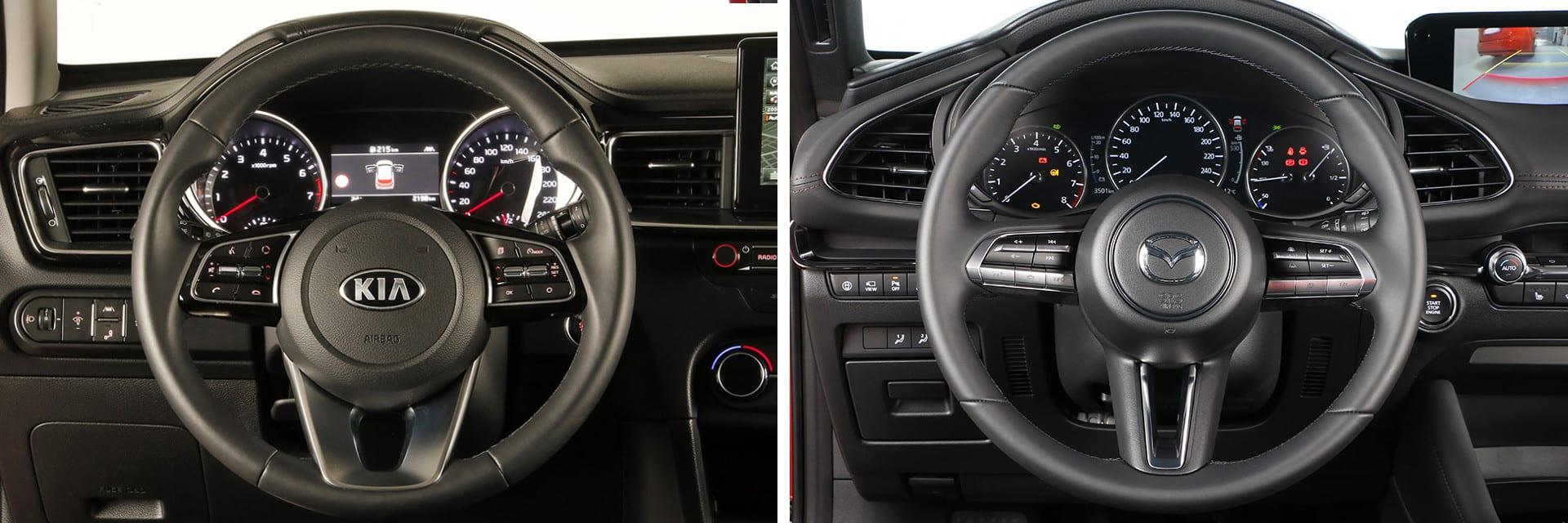 Ambos vehículos tienen numerosos ajustes en el puesto de conducción, lo que permite estar a gusto a los mandos.