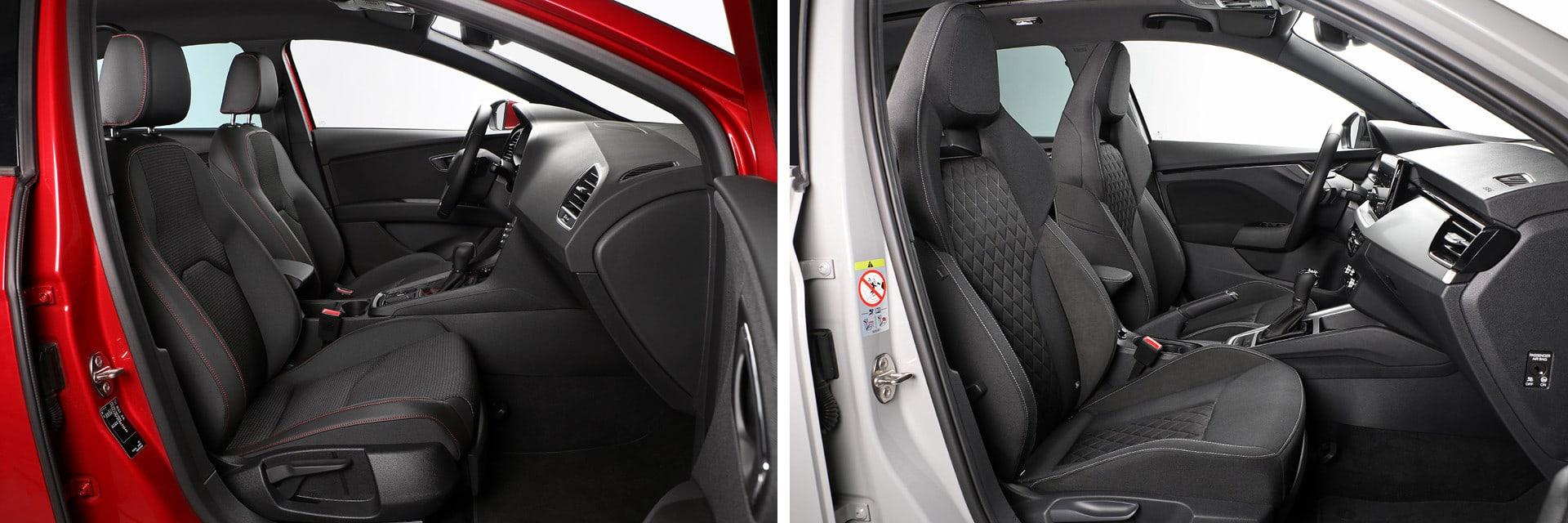 Ambos vehículos llevan asientos deportivos, que son confortables y sujetan muy bien el cuerpo.