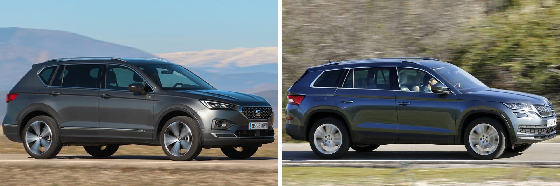 Las fotos del SEAT Tarraco corresponden al acabado Xcellence y las del Škoda Kodiaq al Style. / km77