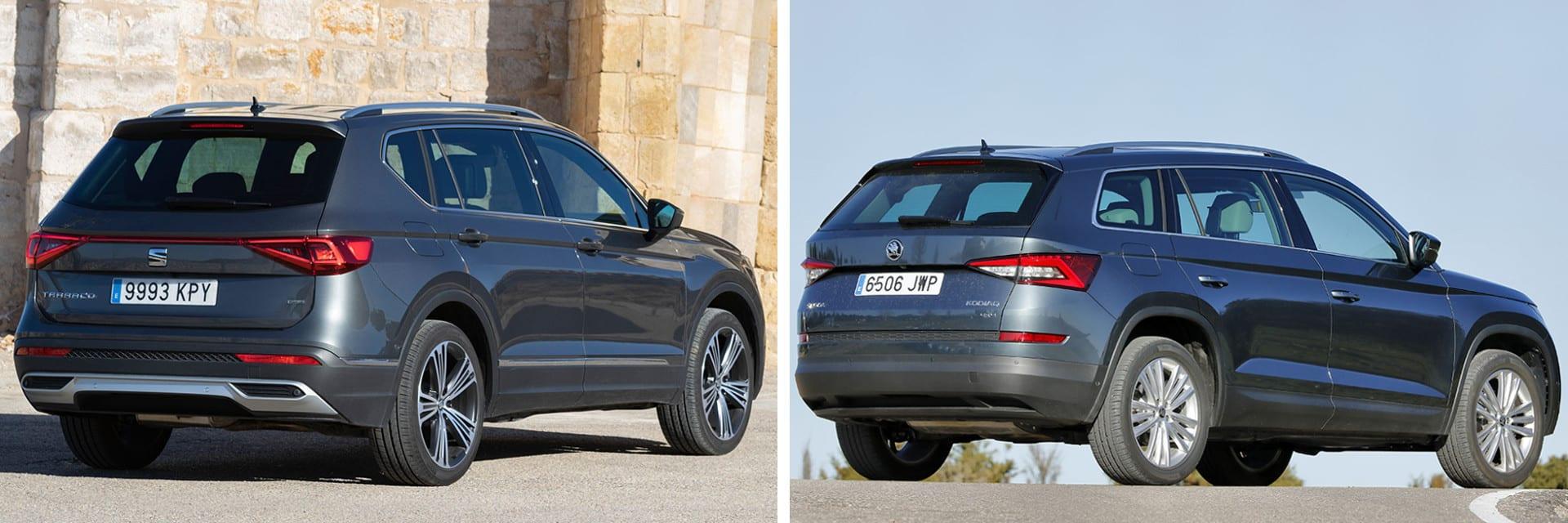 Tanto el SEAT (izq.) como el Škoda (dcha.) transmiten buenas sensaciones durante la conducción, destacando su suavidad en marcha. / km77