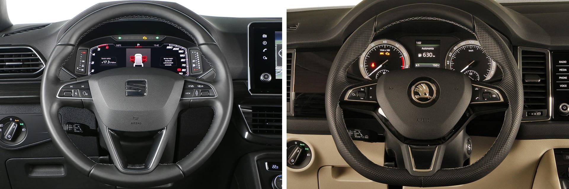 La persona que conduzca se va a sentir a gusto en el puesto de conducción de cualquiera de los dos coches. / km77