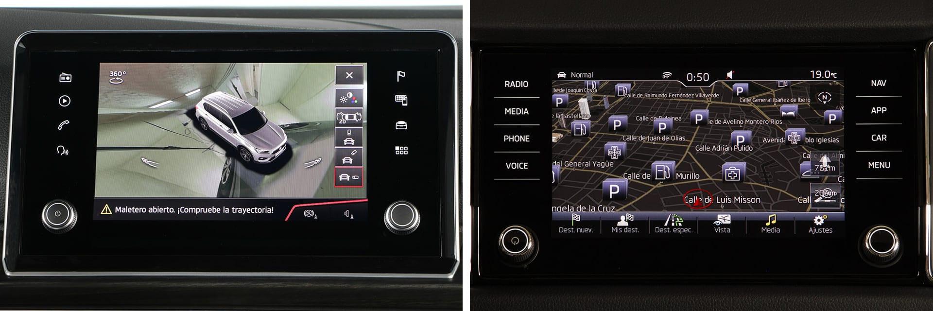 Las pantallas táctiles de ambos modelos están situadas en la consola central y tienen buena visualización. / km77