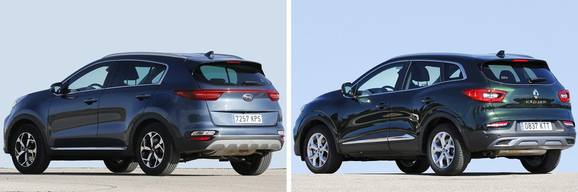 Las fotos del Kia Sportage corresponden al acabado Emotion y las del Renault Kadjar al Zen. / km77