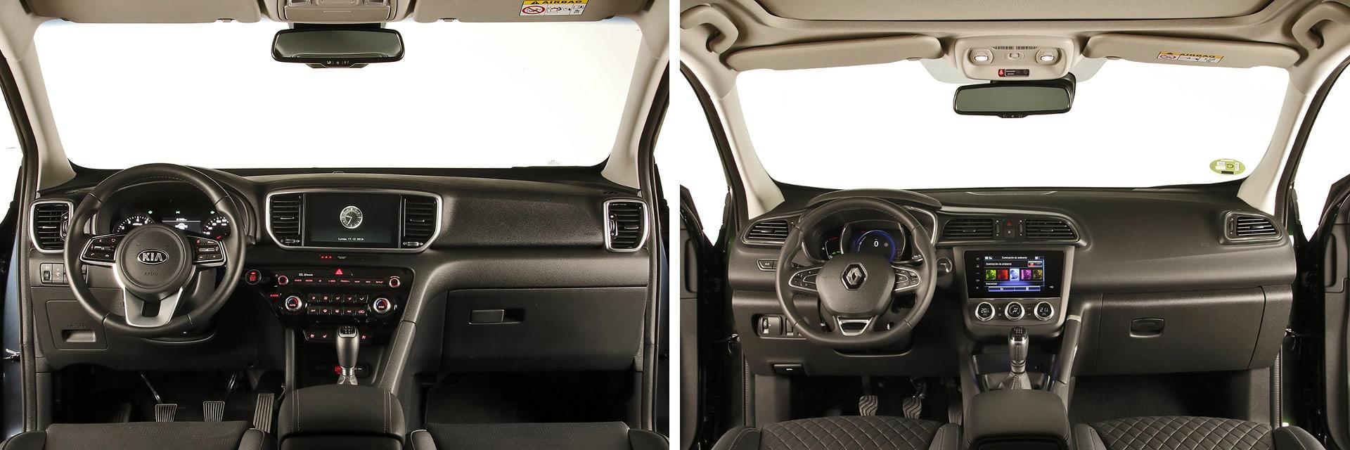 Los dos coches tienen un interior sencillo y con todos los mandos al alcance . / km77