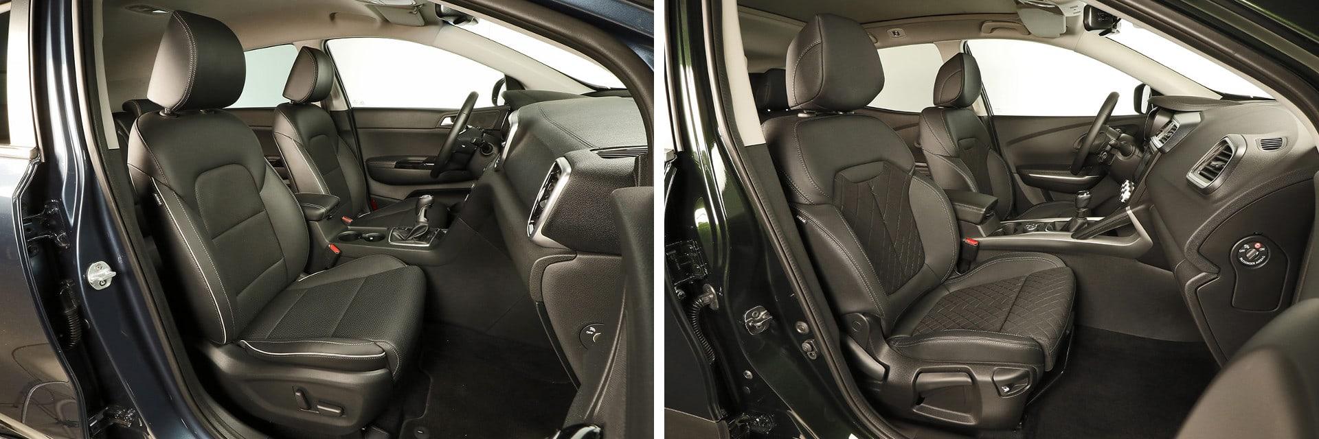 En ambos coches los asientos son anchos y cuentan con un mullido cómodo. / km77