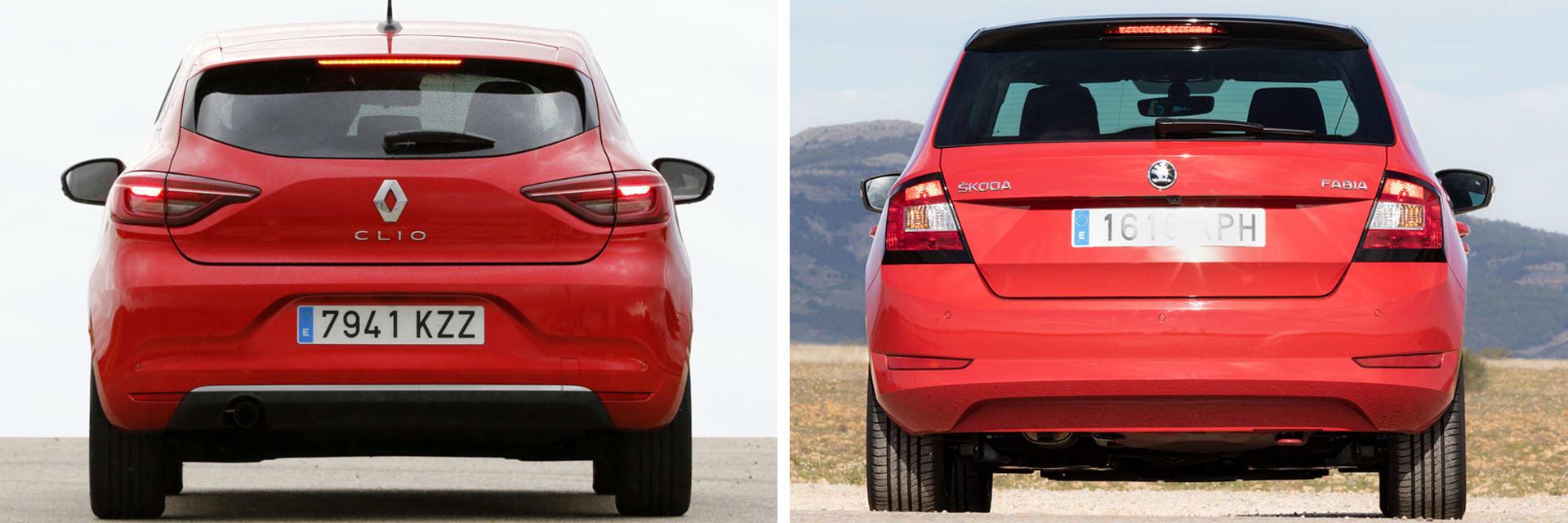 El Clio Intens cuenta con un equipamiento de serie más abundante que el Fabia Style (dcha.) / km77