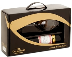 Vinho Occhio Nero Linea Classici Amabile Bonarda D.O.C. 750 ml com 01 Taça (Kits)