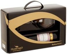 Vinho Occhio Nero Linea Classici Barbera D.O.C. 750 ml com 01 Taça (Kits)