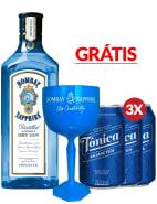 Combo Gin Tônica Bombay Sapphire + Taça
