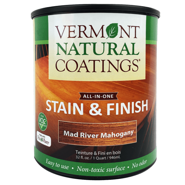 Vermont Natural Coatings mahogany stain and finish