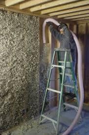 Installing Oregon Shepherd Sheep Wool Insulation into a Wall
