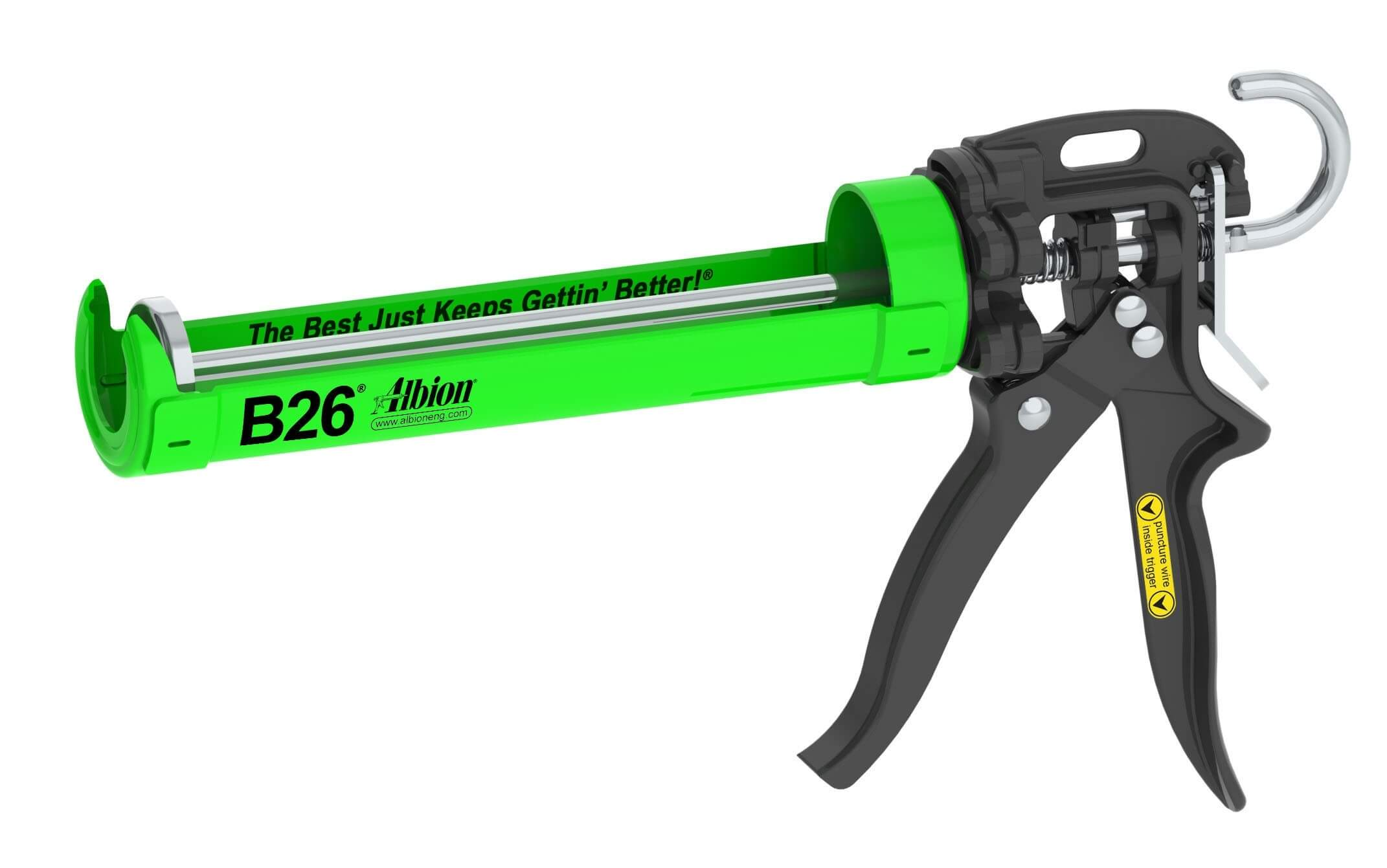 Albion B26 Caulk Gun for 10.1 ounce cartridges - 26:1 thrust ratio
