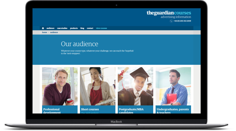 The Guardian Courses Audience Page