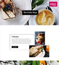 Coffee Shop Barista website design