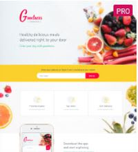 Meal Service Catering website design