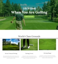 Golf course, golf club, web design
