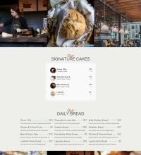 Bakery Coffeshop webpage design