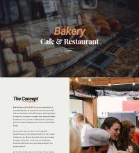 Bakery, restaurant, barista web design
