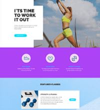 Fitness training web design template
