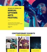 Music festival website design