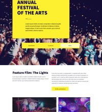 Event webpage design