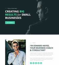 Business coach, consultant web design