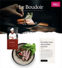 Restaurant web design template