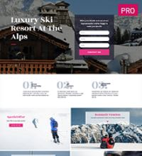 Ski resort - hotel web design template
