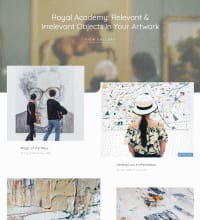 Art Studio - Gallery web design